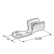 Клемма неизолированная кольцевая MIDI POL A M5 CuZn-Sn сечение провода 10-20