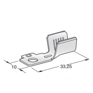 Клемма неизолированная кольцевая MIDI POL B M5 CuZn-Sn сечение провода 25-35
