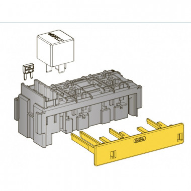 Модуль предохранителей MINIVAL и реле MINI 6+4, шт